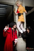 Hellsing Cosplay: Alucard, Seras and Rip by Redustrial-Ruin
