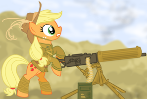 Applejack of the Australian Light Horse by ColorCopyCenter