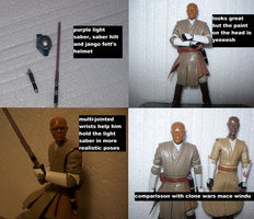 Black Series Mace Windu by lovefistfury