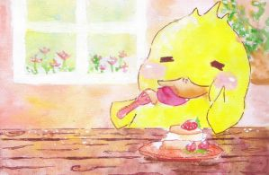 LITTLE DUCKLING and YUMMY CAKE by garinging