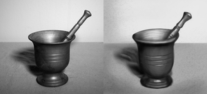 Value Study - Mortar and Pestle by GeminiShadows