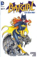 Batgirl sketch cover by WojikHell