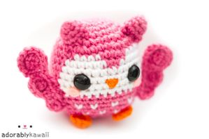 cute pink owl amigurumi 2 by adorablykawaii