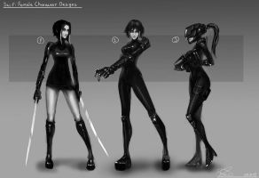 Sci-fi Girls Designs by Brobossa