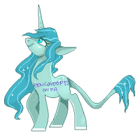 Pixel Adopts auction - Unicorn by RenciAdopts