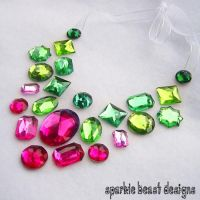 Watermelon Sparkle Necklace by Natalie526