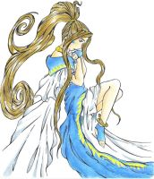 Belldandy In her Thoughts by dragonrage-