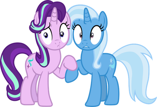 Starlight and Trixie (caught) by davidsfire
