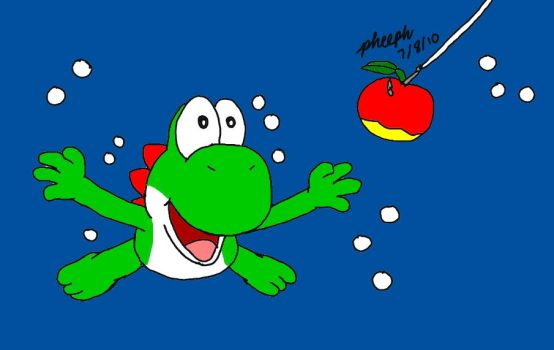 Yoshi in the Deep End by pheeph
