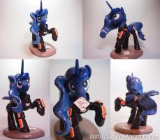 :Commission:Princess Luna vas Normandy by dustysculptures