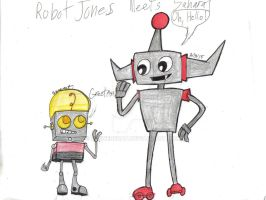 Request for Saharat: Robot Jones meets Saharat by werecatkid17