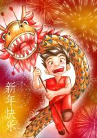 Happy Dragon Year!! by shongcredible