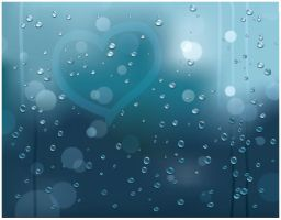 Rainy Window Vector Background by SET07