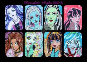 ACEO Monster High Set One by Favolee