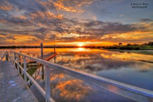 Barwon Heads River Sunset hdr by daniellepowell82