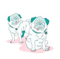 Pugs by GRRDaeo