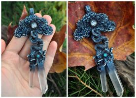 Blue Magical Tree - pendant by Eartha-Creations