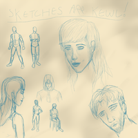 Human anatomy and sketching practice by Storm-Cwalker