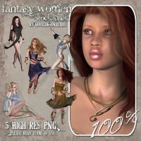 Fantasy Women by angellella-stock