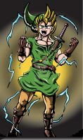 Super Saiyan Link by coolstergraphics