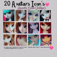 20 Avatars Icons by Letsgomiley
