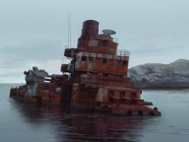 Cruiser Shipwreck by excatriate