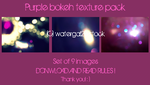 Purple bokeh texture pack by watergal28-stock