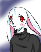red eyed bunny by arcticfoxie