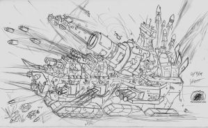 Ork Battleship? by Snowfyre