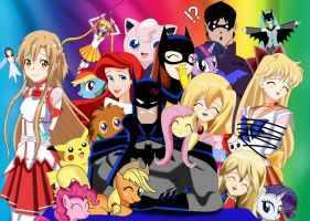 .: Batman Vs Everything Cute :. by Sincity2100