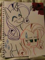 Rarity does Apple Jack's mane by Shellythewolf1
