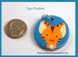 Clay - Tiger Pendant by MelodyMaid