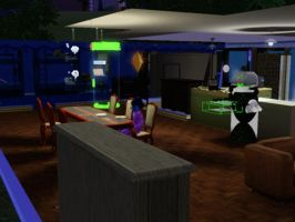 Sims 3 - Violet came home and eat late dinner by Magic-Kristina-KW