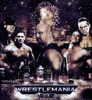 Wrestlemania 23 Poster by pollo0389