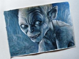 Smeagol drawing by Cleicha