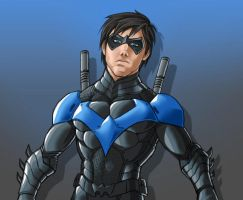 Nightwing Blue by AIBryce