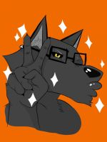 Hipster wuff by SoularWolf4