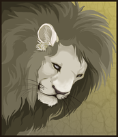 Lion face by nightspiritwing