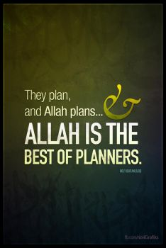 Allah is the best of planners... by rizviArts