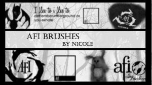 AFI Brushes1 by xXnicoleXx9