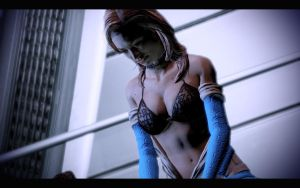 Miranda in Blue Mass Effect by winchester01