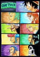 The Straw Hats by heivais