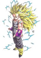 Dragonball Z . Trunks Super Sayan 3 Colour by TriiGuN