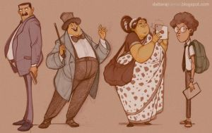 Few selected characters from the sketchbook... by Dattaraj