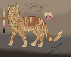Sand Glow Ref sheet by NeonDefined