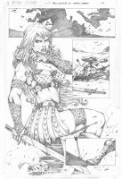 Red Sonja #73 pg 17 by MARCIOABREU7