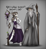 Gandalf the Gray and Felidre the Violet by Felidre