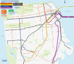 San Francisco streetcar map by qweqwe321