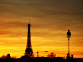 Sunset in Paris by pur3visions