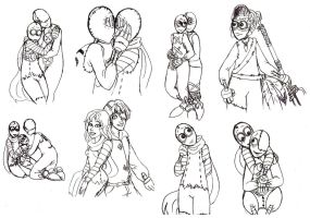 9 commission sketches by Lily-pily